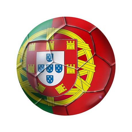 "Portuguese Soccer Ball 3.5"" Button"
