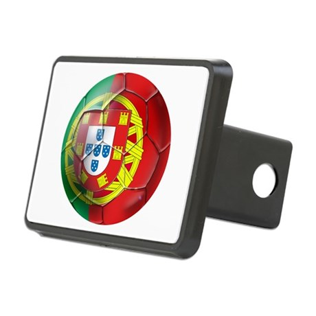 Portuguese Soccer Ball Rectangular Hitch Cover