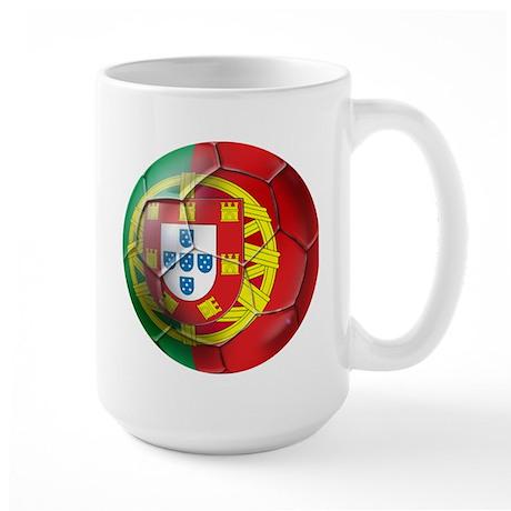 Portuguese Soccer Ball Large Mug