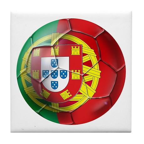 Portuguese Soccer Ball Tile Coaster