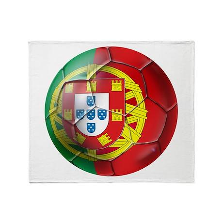 Portuguese Soccer Ball Throw Blanket