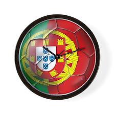 Portuguese Soccer Ball Wall Clock