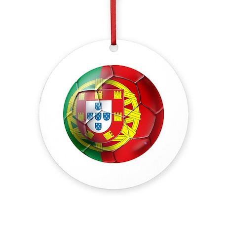 Portuguese Soccer Ball Ornament (Round)