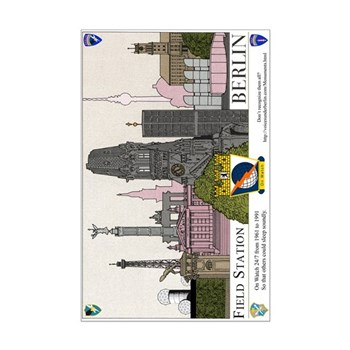 Berlin Skyline Monuments Mini Poster Print