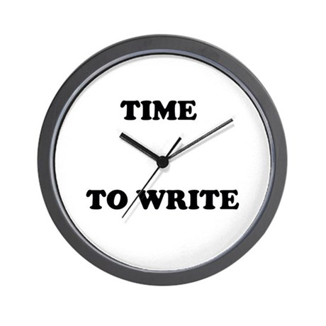 Time to Write Wall Clock for writers by WonderfulWorldofWords