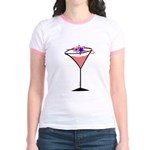 Patriotic Cocktail Jr. Ringer T-Shirt