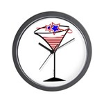 Patriotic Cocktail Wall Clock