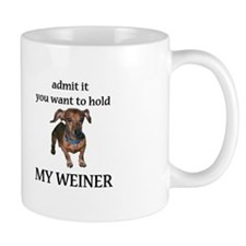 Hold My Weiner Small Mug