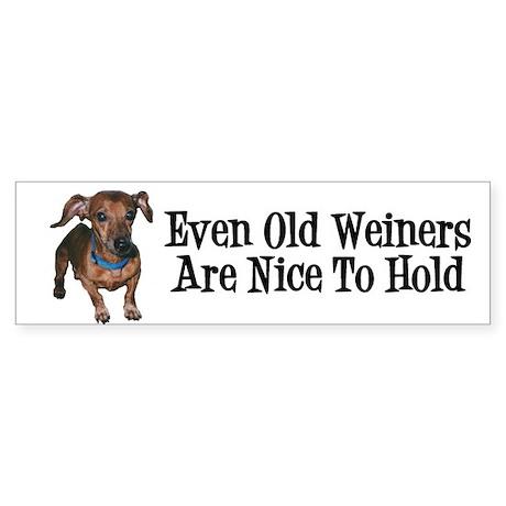 Old Weiners Sticker (Bumper)