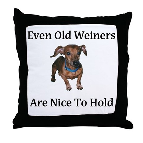 Old Weiners Throw Pillow