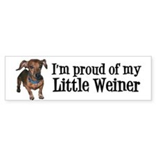Cute Pet my weiner Bumper Sticker