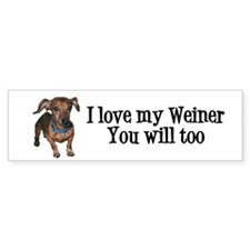 Love My Weiner Bumper Sticker