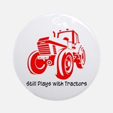 Red Tractor Ornament (Round)