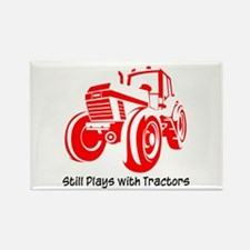 Red Tractor Rectangle Magnet