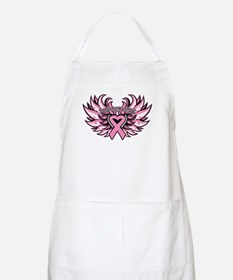 Breast Cancer Heart Wings Apron