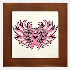 Breast Cancer Heart Wings Framed Tile