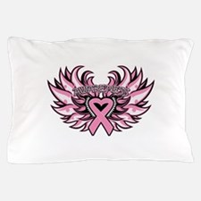 Breast Cancer Heart Wings Pillow Case