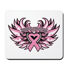Breast Cancer Heart Wings Mousepad