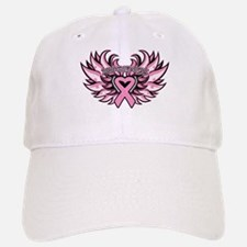 Breast Cancer Heart Wings Baseball Baseball Cap