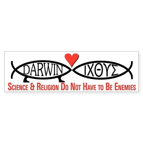 Science & Religion Bumper Sticker