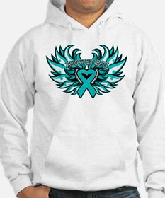 Ovarian Cancer Heart Wing Hoodie