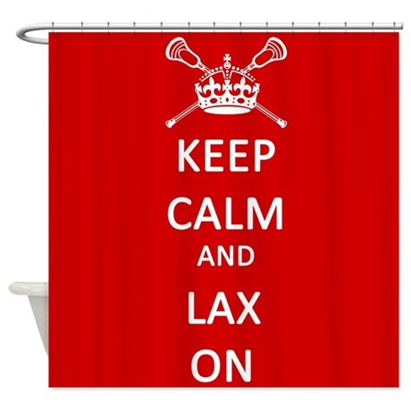 Lacrosse Keep Calm and Lax On Shower Curtain
