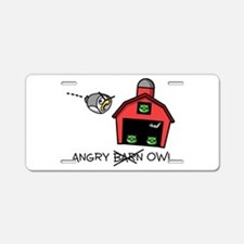 Angry Owl Aluminum License Plate