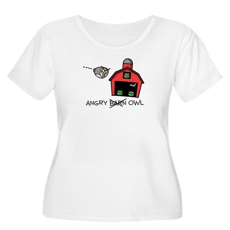 Angry Owl Women's Plus Size Scoop Neck T-Shirt