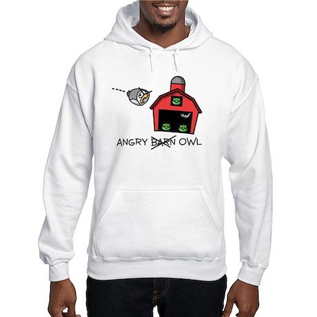 Angry Owl Hooded Sweatshirt