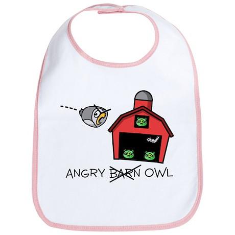 Angry Owl Bib