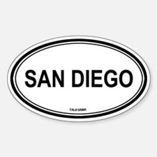 San Diego (California) Oval Decal