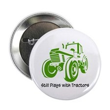 "Green Tractor 2.25"" Button (100 pack)"
