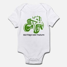 Green Tractor Infant Bodysuit