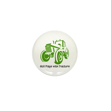 Green Tractor Mini Button (10 pack)