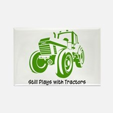 Green Tractor Rectangle Magnet