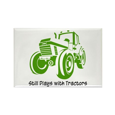 Green Tractor Rectangle Magnet (10 pack)