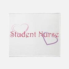 Student Nurse-Hearts Throw Blanket