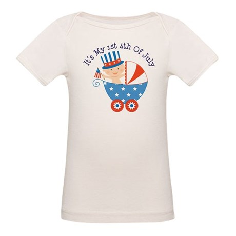 Baby's 1st 4th of July Organic Baby T-Shirt