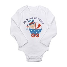 Baby's 1st 4th of July Long Sleeve Infant Bodysuit