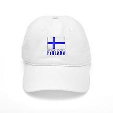 Finland Flag Name Snow Baseball Cap