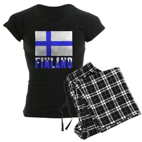 Finland Flag Name Snow Women's Dark Pajamas