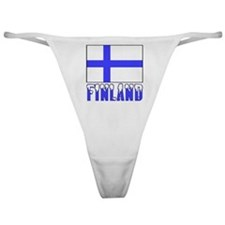 Finland Flag Name Snow Classic Thong