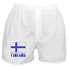 Finland Flag Name Snow Boxer Shorts