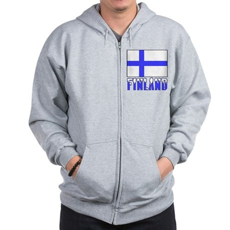 Finland Flag Name Snow Zip Hoodie