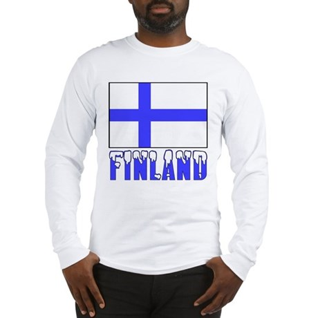 Finland Flag Name Snow Long Sleeve T-Shirt