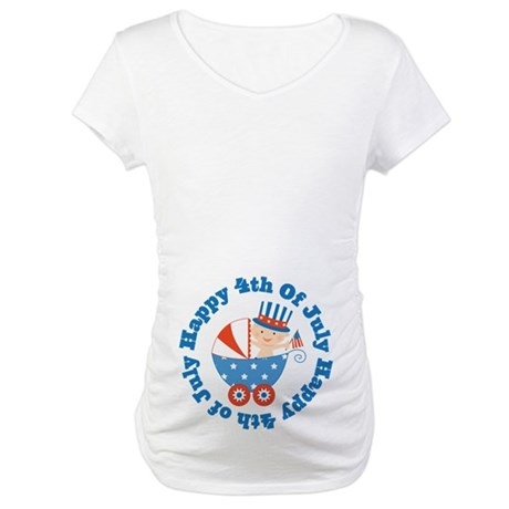 4th of July Maternity T-Shirt