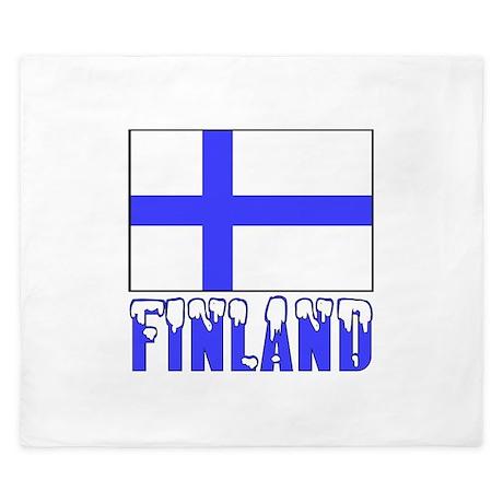 Finland Flag Name Snow King Duvet