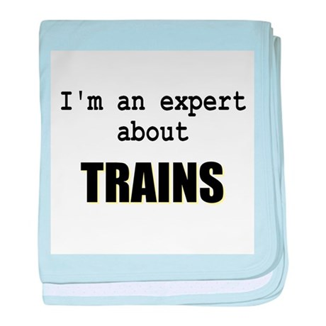 Im an expert about TRAINS baby blanket
