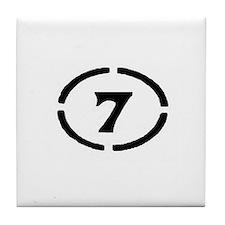 Circle Seven Tile Coaster