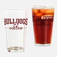 Bulldogs Soccer Drinking Glass